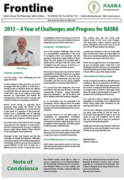 2013 - A Year of Challenges and Progress for NASRA