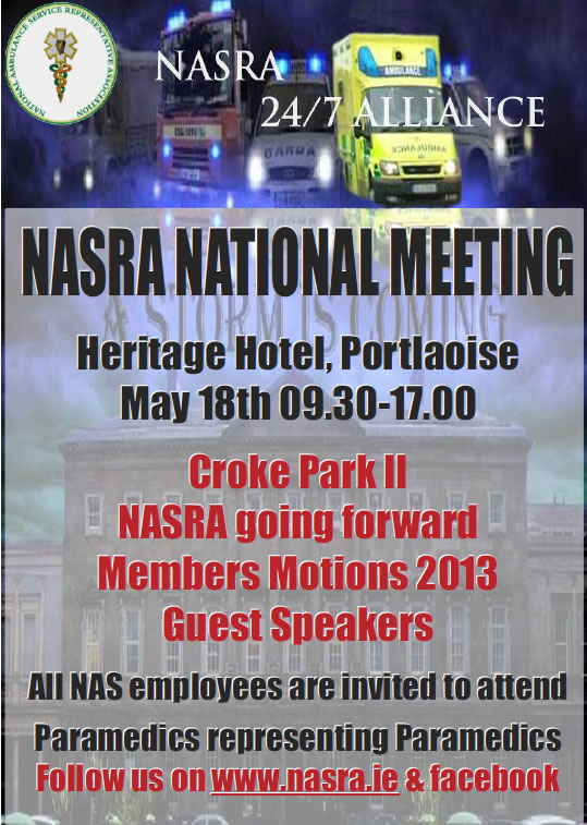 NASRA National Meeting 18th May 2013